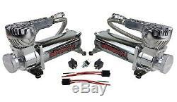 Air Ride Kit Fits 58-64 Impala Valves 7 Switch 580 Chrome Air Compressors & Tank