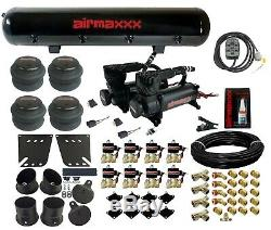 Air Ride Kit For 1958-64 Impala Valves 7 Switch 580 Black Air Compressors & Tank