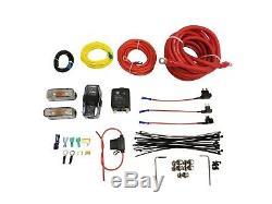 Airmaxxx Black Dual Compressor Wire Kit 5 Gallon Steel 9 port Tank Air Ride