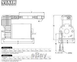BEHEMOTH TRAIN AIR HORN 152db VIAIR 275c Compressor 2.5 Gallon 150psi kit