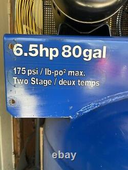 Blue Point by Snap On 80 gallon 6.5HP 2 stage air compressor 175PSI