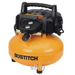 Bostitch BTFP02012 6-Gallon 150-Psi Pancake Vertical Oil-Free Compressor