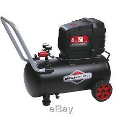 Briggs Stratton Air Compressor 8 Gallon Hotdog Oil free Portable 120 Volt