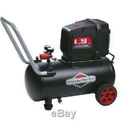Briggs & Stratton Air Compressor 8 Gallon Hotdog Oil-free Portable Electric