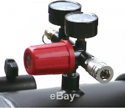 Briggs and Stratton 8 Gallon Hotdog Oil-free Air Compressor Spray Gun All Nailer