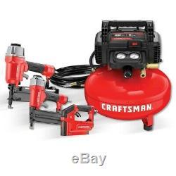 CRAFTSMAN 6-Gallon Portable Electric Pancake Air Compressor #CMEC3KIT FREE SHIP