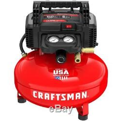 CRAFTSMAN 6-Gallon Portable Electric Pancake Air Compressor MADE IN USA NEW
