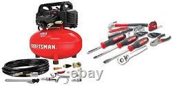 CRAFTSMAN Air Compressor 6 gallon, Oil-Free Kit w Mechanics Tools Kit/Socket Set
