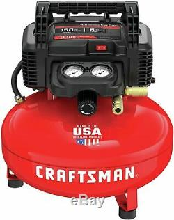 CRAFTSMAN Air Compressor 6 gallon Pancake Oil-Free 150 PSI 13 Piece Kit Portable