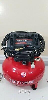 CRAFTSMAN Air Compressor, 6 gallon, Pancake Oil-Free with accessory Kit