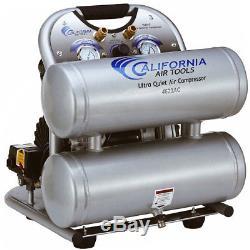 California Air Tools 4620AC 110-Volt 2.0-HP 4.0-Gallon Twin Tank Air Compressor