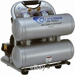 California Air Tools SP Ultra Quiet & Oil-Free 2-HP 4-Gallon Aluminum Twin Ta