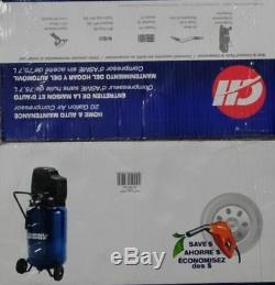 Campbell Air Compressor 20 Gallon Oil-Free Home Workbench Handles Paint Spraying