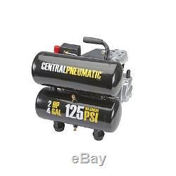 Central Pneumatic 2 HP, 4 Gallon, PSI Twin Tank Air Compressor- NIB