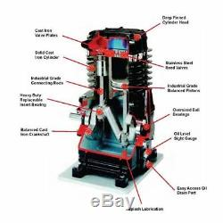Chicago Pneumatic 5-HP 80-Gallon Dual-Voltage Two-Stage Air Compressor 208/2