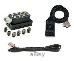 Complete Air Ride Suspension Kit 58-64 GM Cars Accuair Vu4 AVS SwitchBox Chrome