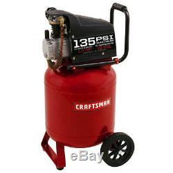 Craftsman 10 Gallon 1 HP Oil-Lube Portable Air Compressor 135 Max PSI