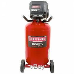Craftsman 33 Gallon 1.7 HP Oil-Free Vertical Air Compressor 165 Max PSI