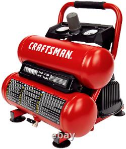 Craftsman Air Compressor, 2 Gallon Portable Air Compressor, Twin Tank, 1/3 Hp Oi