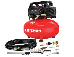 Craftsman Air Compressor, 6 Gallon, Pancake Oil-Free with 13 Piece Accessory Kit