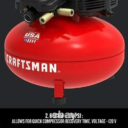Craftsman Air Compressor, 6 Gallon, Pancake, Oil-Free with 13Piece Accessory Kit