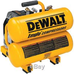 DEWALT 1.1 HP 4 Gallon Oil-Lube Hand Carry Air Compressor D55151 New
