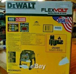 DEWALT DCC2560T1 FlexVolt 60V Max 2.5 Gallon Cordless Air Compressor Kit. NEW