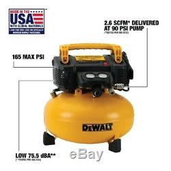 DEWALT DWFP55126R 6 Gallon 165 PSI Pancake Air Compressor