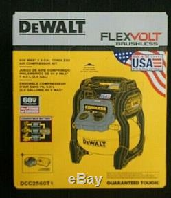 DEWALT Flexvolt 60v Max 2.5 gallon cordless air compressor kit DCC2560T1 new