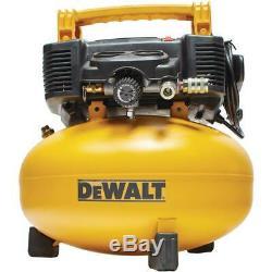 DEWALT Pancake Style Air Compressor 0.9 HP 6 Gallon Oil-Free DWFP55126 New