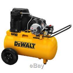 Dewalt DXCMPA1982054 1.9-HP 20-Gallon (Belt-Drive) Dual Voltage Air Compressor