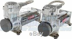 Dual Viair 444C Compressors with 5 Gallon Tank & Dominator 2600lb Air Bags