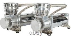 Dual Viair 480c Chrome Compressors And 5 Gallon Tank