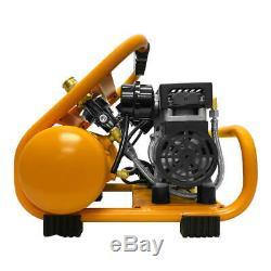 DuraTwist 1-Gallon 0.5 HP Ultra-Quiet Portable Oil-Free Electric Air Compressor
