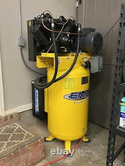 EMAX Industrial Plus Silent 7.5-HP 80-Gallon Two-Stage Air Compressor with Dryer