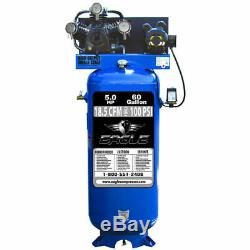 Eagle 5-HP 60-Gallon Single-Stage Air Compressor (208/230V 1-Phase)