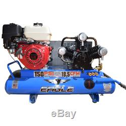 Eagle 9-HP 10-Gallon Wheelbarrow Air Compressor with Honda Engine