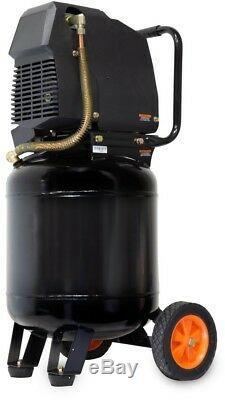 Electric Air Compressor 10 Gallon Oil Free Vertical Steel Handle Pressure Gauge