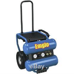 Emglo EM8104MR 1.1 HP 4 Gallon Oil-Lube Twin Stack Air Compressor Reconditioned