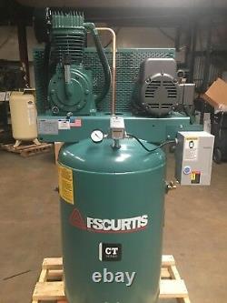 FS Curtis CT Series 80-Gallon Air Compressor 5hp 230/1 17CFM @ 175 Baldor Motor