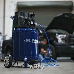 Ford 15 Gallon Silent Series Quiet Oil-Free Air Compressor, FCE6150QV