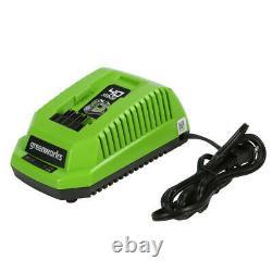 Greenworks 40-V Cordless 1/2 Gallon 115 PSI Portable Horizontal Air Compressor
