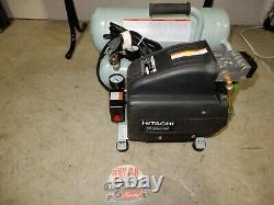 Hitachi 4-Gallon Portable Electric Twin Stack Air Compressor EC99S 15 Amp