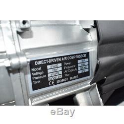 Horizontal Portable Air Compressor 116 PSI 3 HP 7 CFM Tank 12 Gallon