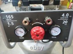 Husky 20 Gallon Vertical Electric Powered Silent Air Compressor 80% Quieter