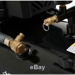 Husky 8 Gallon Tank 150 PSI Quiet Electric Portable Air Compressor for Car Tires