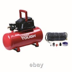 Hyper Tough 3 Gallon Oil Free Portable Air Compressor for inflation, 100PSI, Red