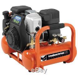 Industrial Air Contractor 5-HP 4-Gallon Twin Stack Air Compressor with Honda En