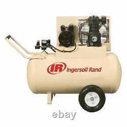 Ingersoll Rand Electric Portable Air Compressor- 2 HP, 115 Volt, 30-Gallon