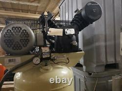 Ingersoll-Rand T30 Air Compressor 5 HP 60 Gallon Vertical Tank 175 Max PSI